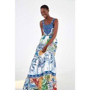 Anthropologie Farm Rio Valeria Tiered Maxi Dress